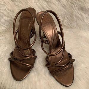 Diane Von Furstenburg Bronze Slingback Sandals 10M